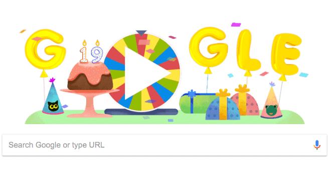 Google celebrates its 19th birthday today.