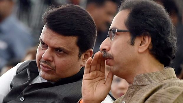 Maharasthra CM Devendra Fadnavis and Shiv Sena's Uddhav Thackeray.