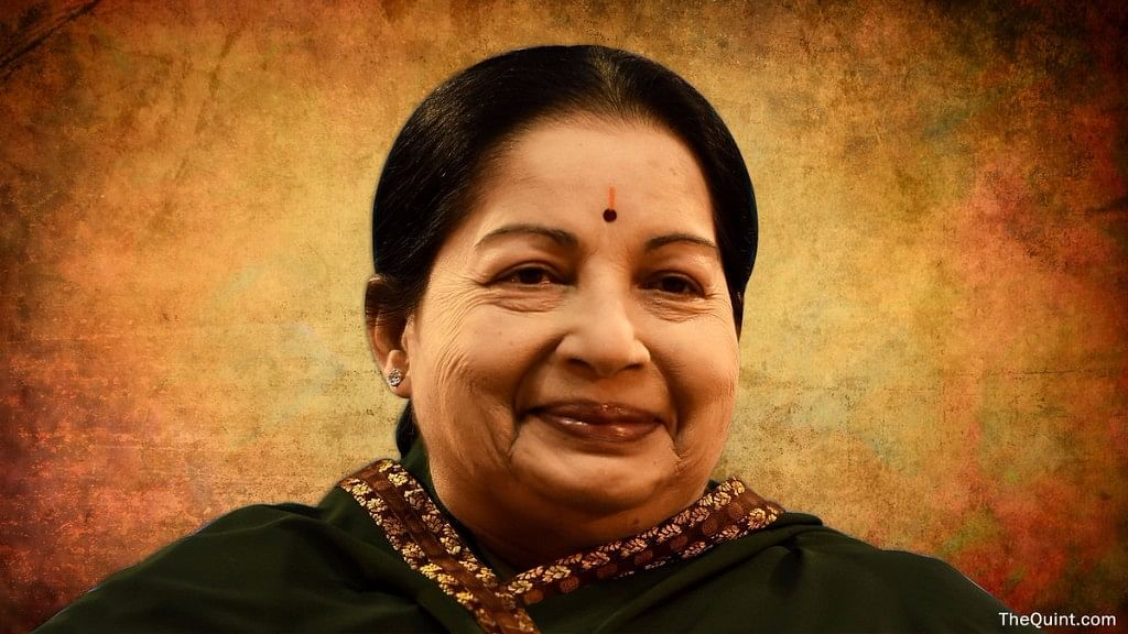 Late Chief Minister of Tamil Nadu Jayalalithaa.