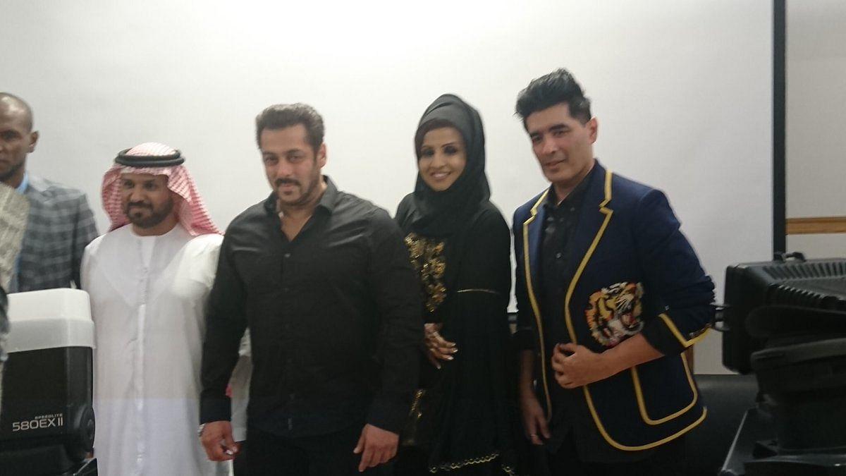 Salman Khan with Manish Malhotra.