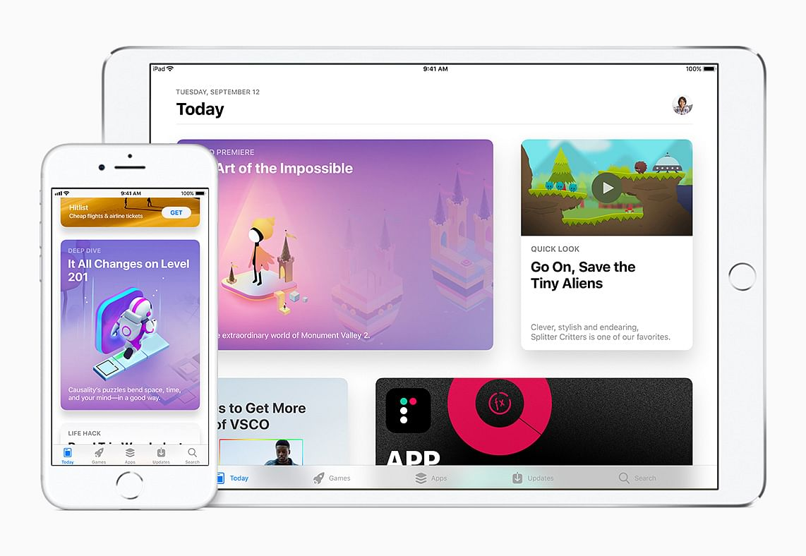 The new-look app store on iOS for iPad.