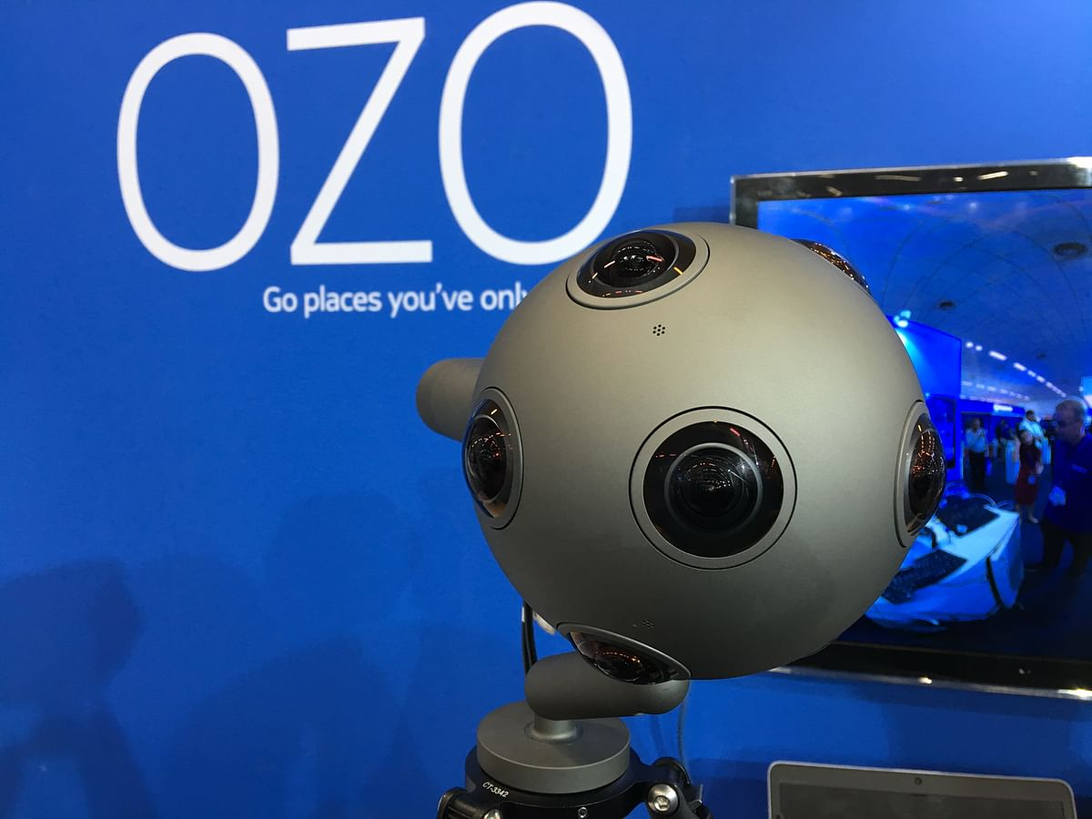 The Nokia OZO camera captures video in 360-degree