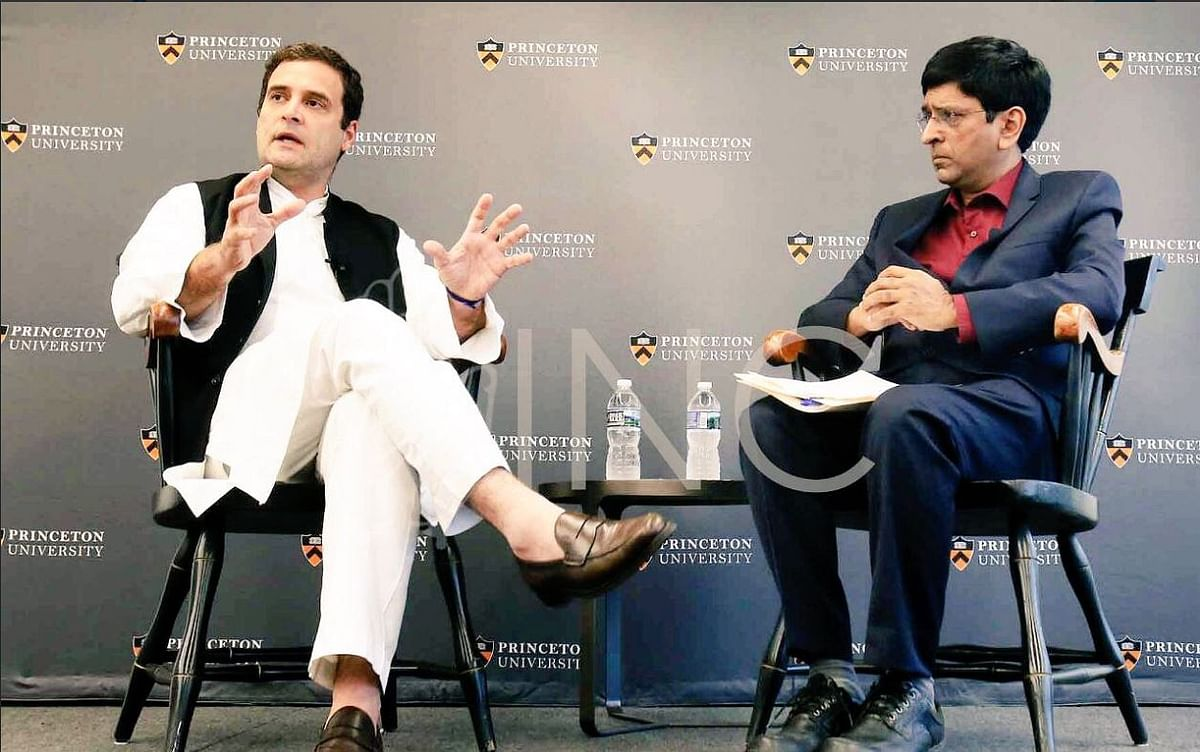 Rahul Gandhi addresses students at Princeton University