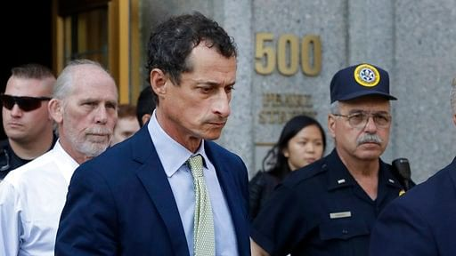 Former Congressman Anthony Weiner leaves federal court following his sentencing