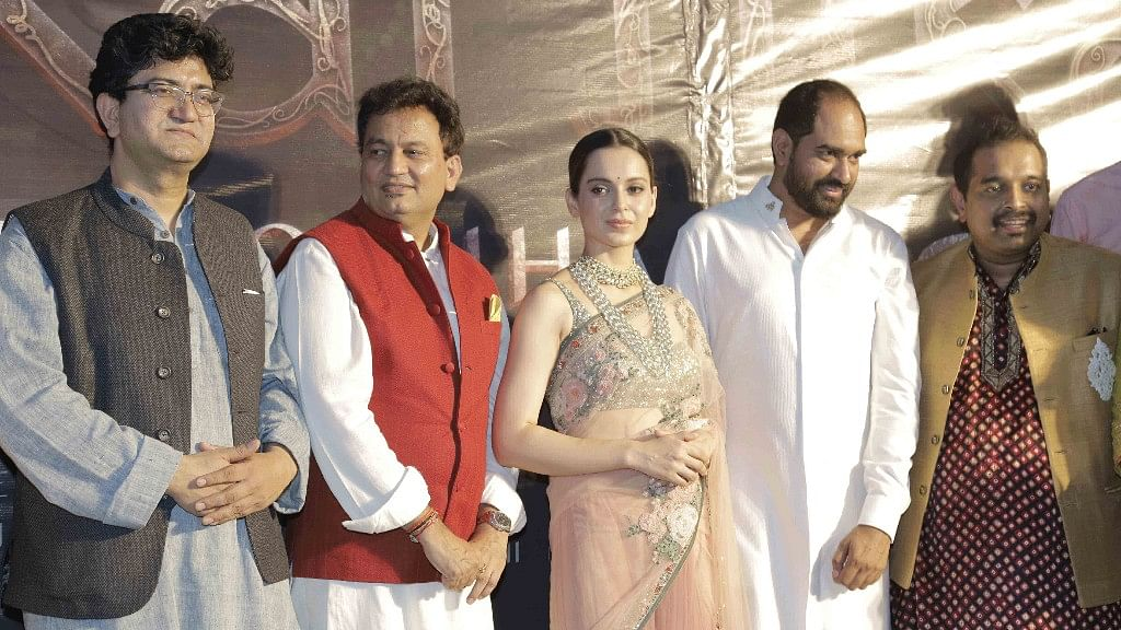 Kangana Ranaut at the launch of <i>Manikarnika.</i>