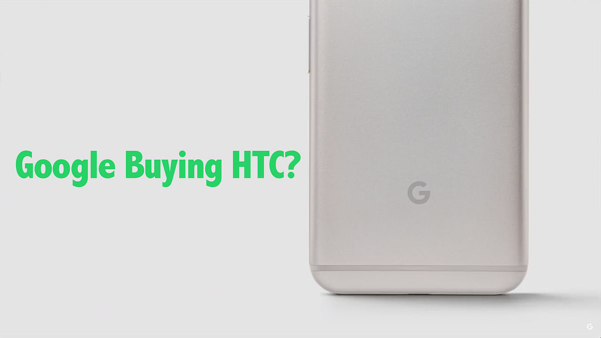 Reports suggest Google is close to buying HTC's smartphone business.