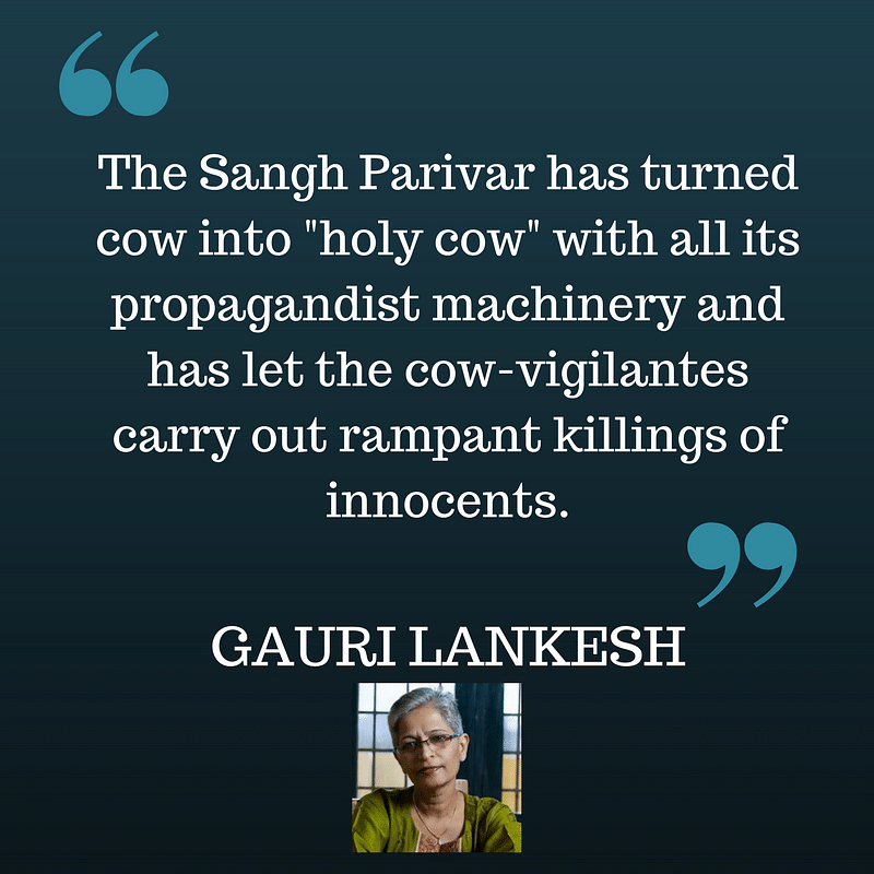 Gauri Lankesh, the Voice of Dissent, Stood for Free Speech