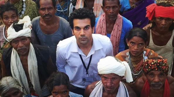 Rajkummar Rao in and as <i>Newton.</i>