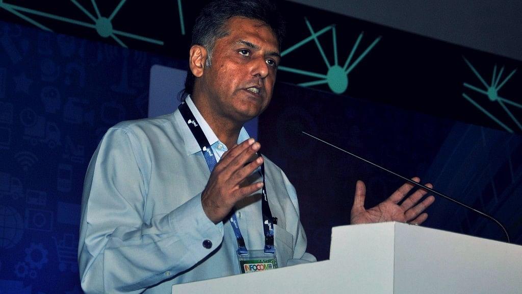 File photo of Congress leader Manish Tewari in Kolkata.