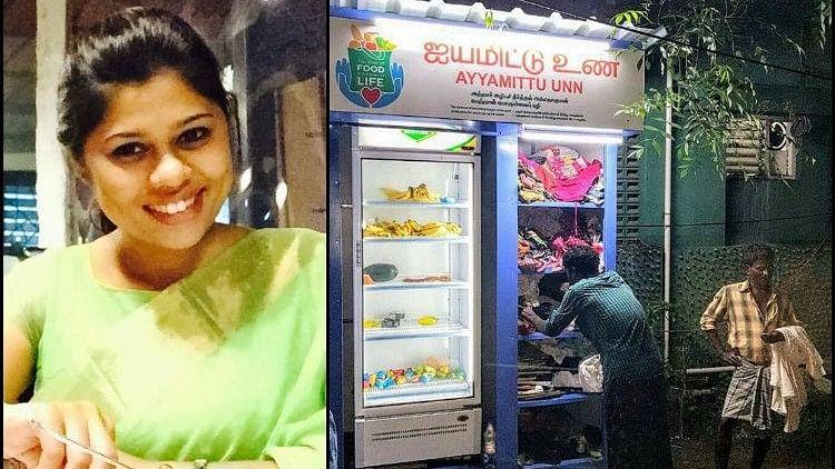 Ayyamittu Unn is a community fridge and donation counter set up on 20 August by orthodontist Dr Issa Fathima Jasmine.