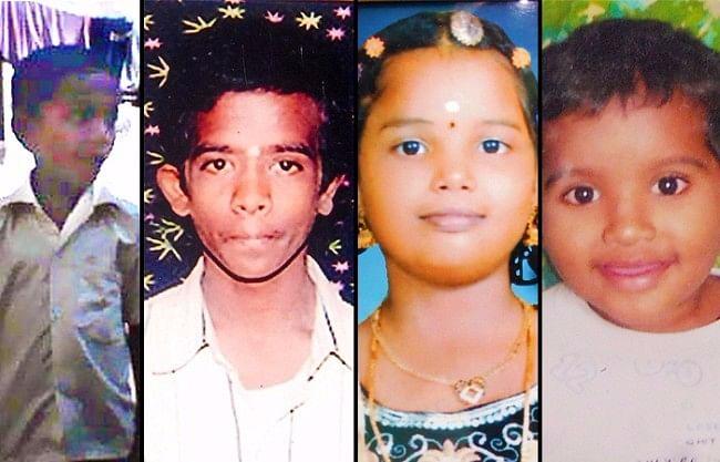 Victims of negligence: 7-year-old Rakesh, 16-year-old Manikanta, 9-year-old Geetha Lakshmi, and 5-year-old Abhishek.