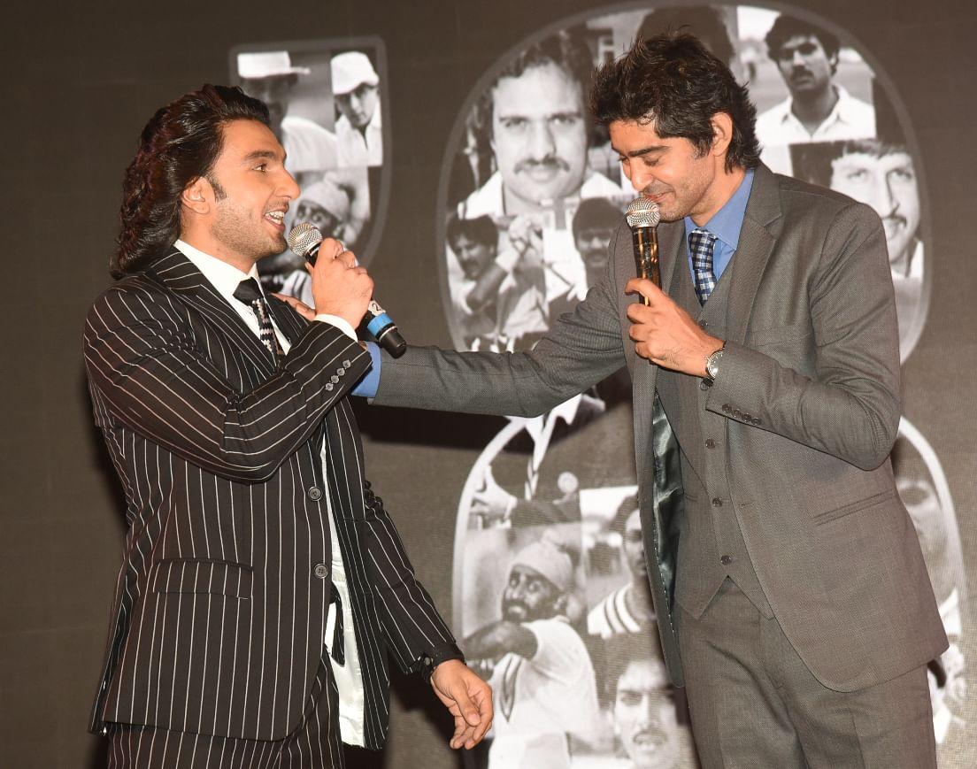 Ranveer jokes with Gaurav Kapur.