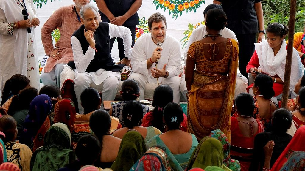 File photo of Congress president Rahul Gandhi in Gujarat.