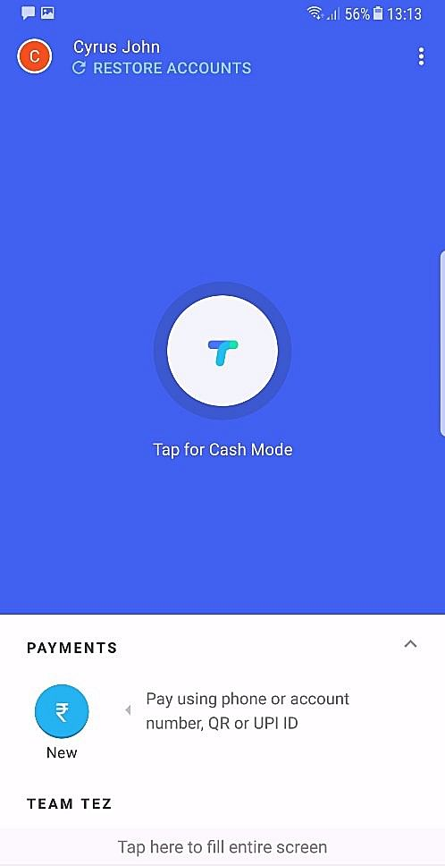 Tez is a digital payment app from Google