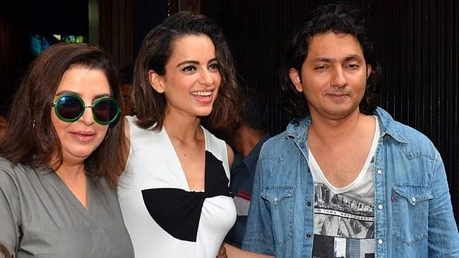 Farah Khan with Kangana Ranaut and Shirish Kunder.