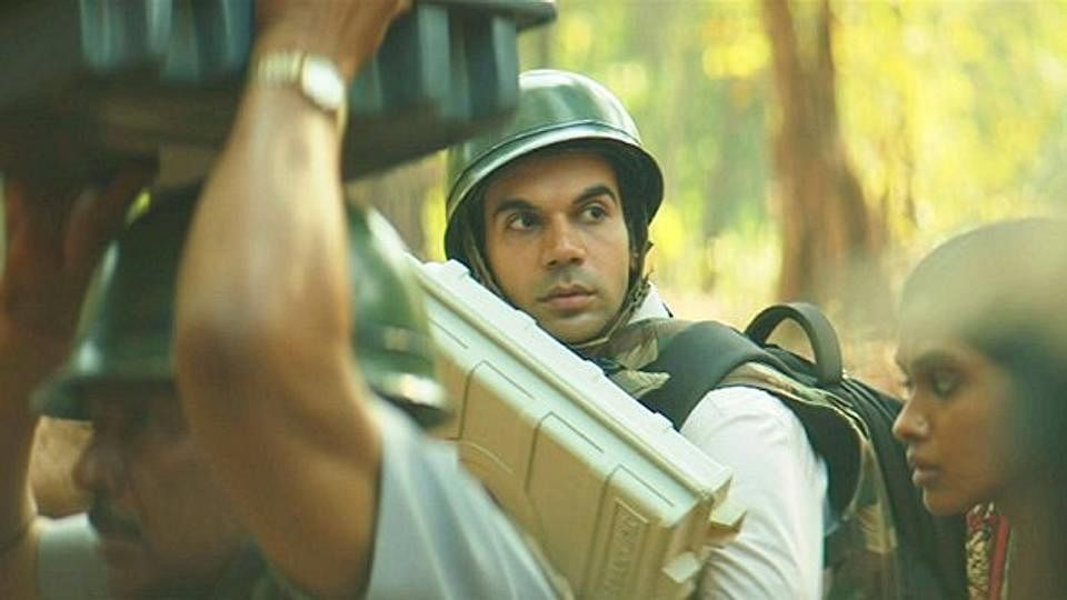 Rajkummar Rao in<i> Newton</i>.&nbsp;
