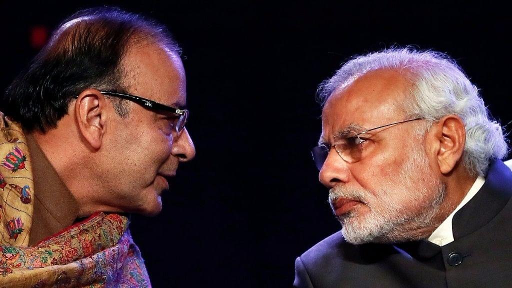 Prime Minister Narendra Modi with Arun Jaitley.