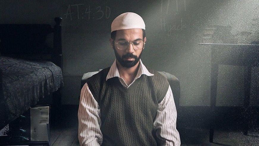 A still of Rajkummar Rao in 'Omerta' as notorious terrorist Omar Saeed Sheikh.