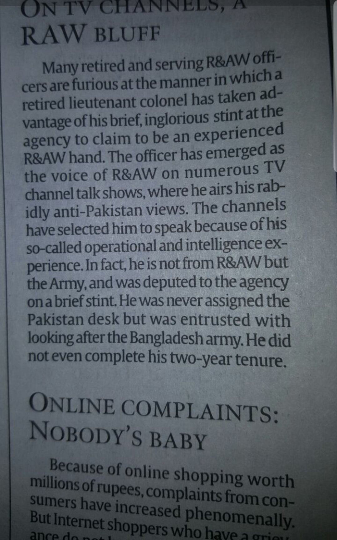 Uncovering TV 'Defence Specialist' RSN Singh's RAW  Credentials