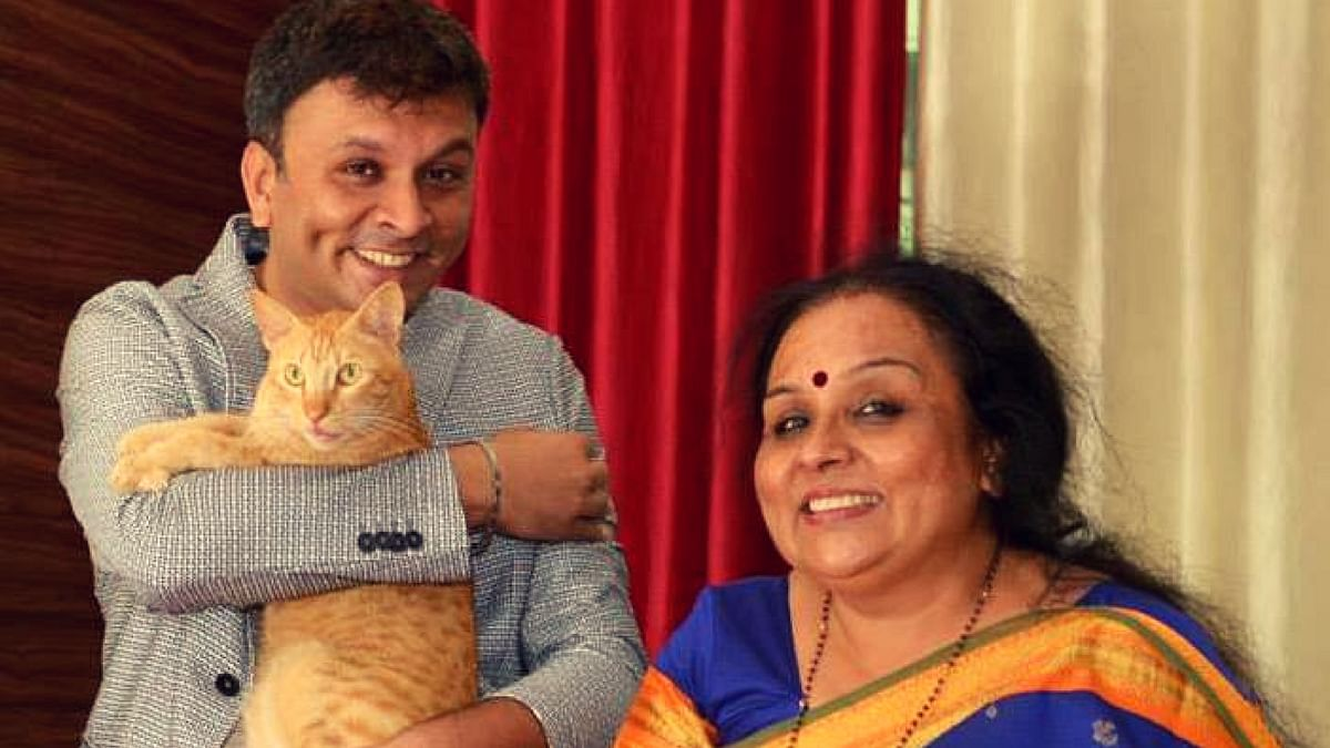 Gay rights activist Harish Iyer with his mother.