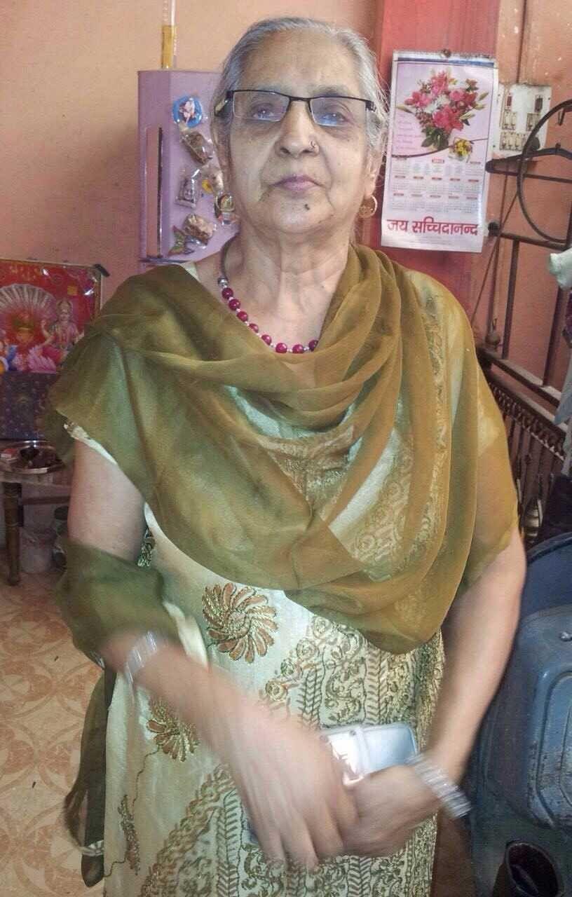 Rajkumar Sharma's mother who's battling cancer.