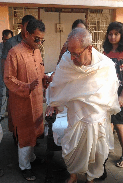Pranab Mukherjee at his ancestral home.