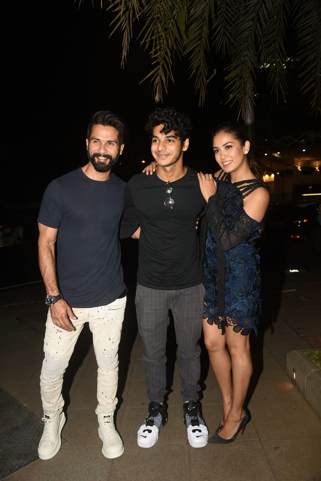 The couple with Shahid's brother, Ishan.