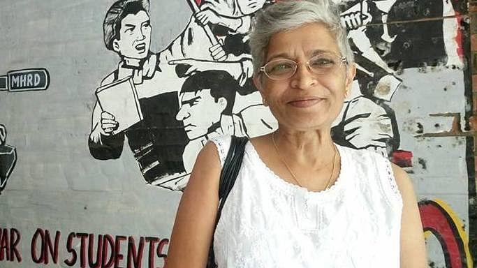 A photograph of Gauri Lankesh shared by JNU student Shehla Rashid.