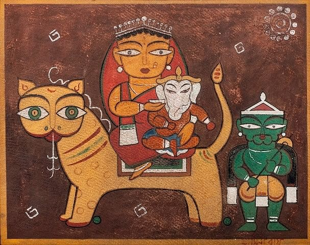 <i>Ganesh Janani</i> by Jamini Roy.