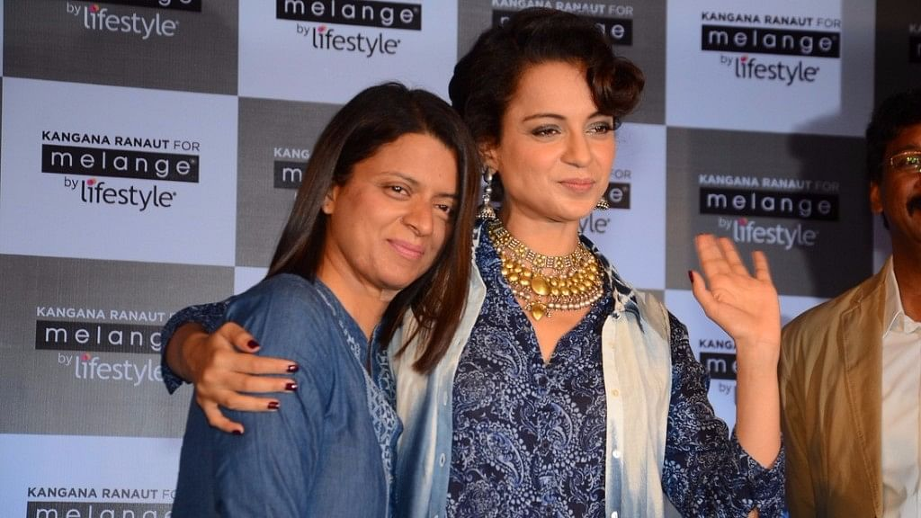 Kangana Ranaut with sister Rangoli Chandel.