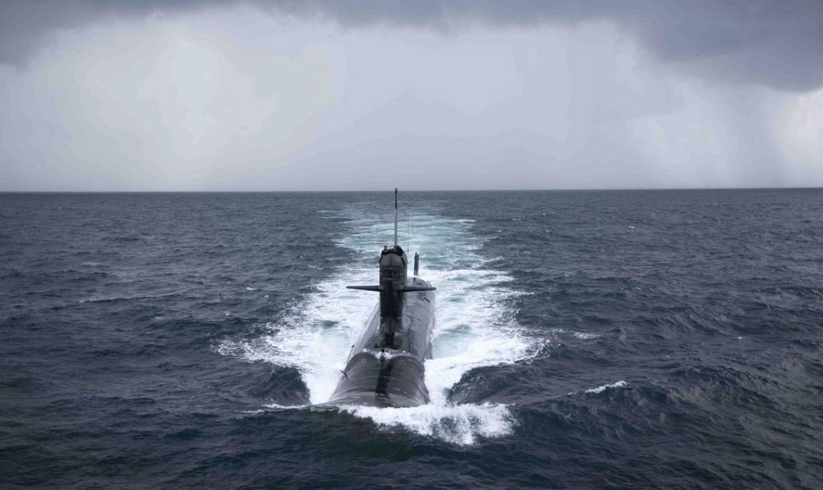 Kalvari, the first of the six Scorpene-class submarines.