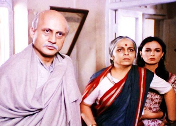 Anupam Kher, Rohini Hattangadi and Soni Razdan in Mahesh Bhatt's <i>Saaransh.</i>&nbsp;