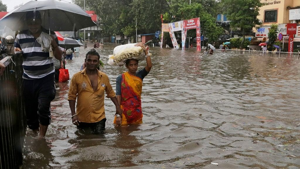 Torrential rainfall wreaked havoc in the city of Mumbai on 29 August.