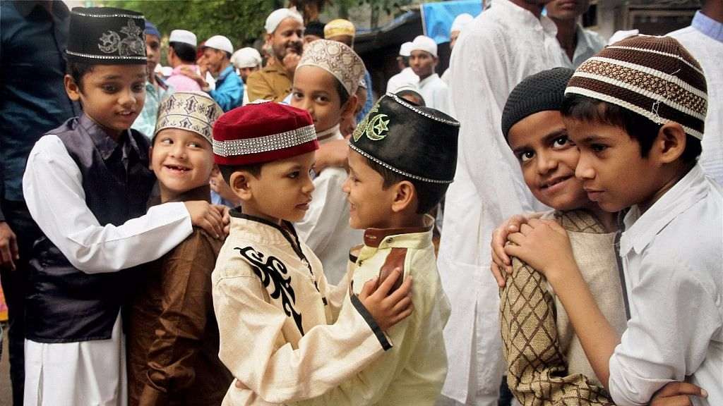 Eid-e-Milad:Children greet each other after offering prayers. Image used for representation.