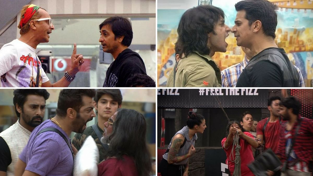 Shots from various fights in <i>Bigg Boss </i>house.