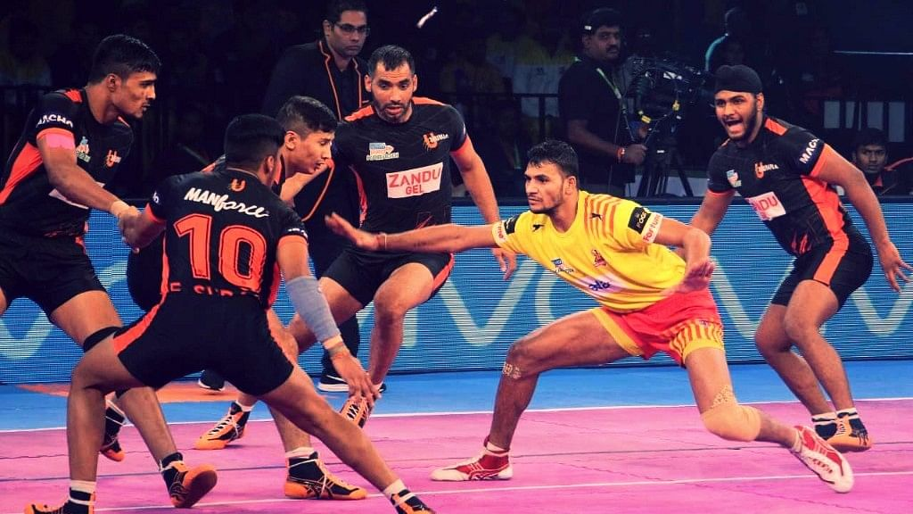 Gujarat Fortunegiants beat U Mumba in a match on Wednesday.