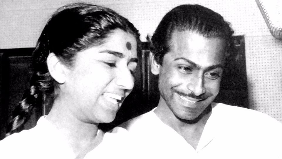 Salil Chowdhury with Lata Mangeshkar.