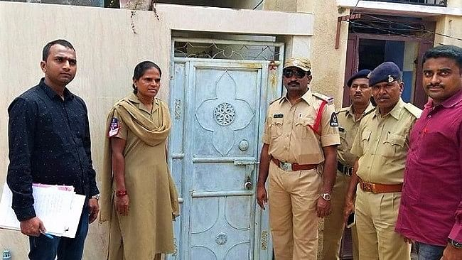 The police team searched her house at Akshara Nagar, and suspected that she fled to Uttar Pradesh.