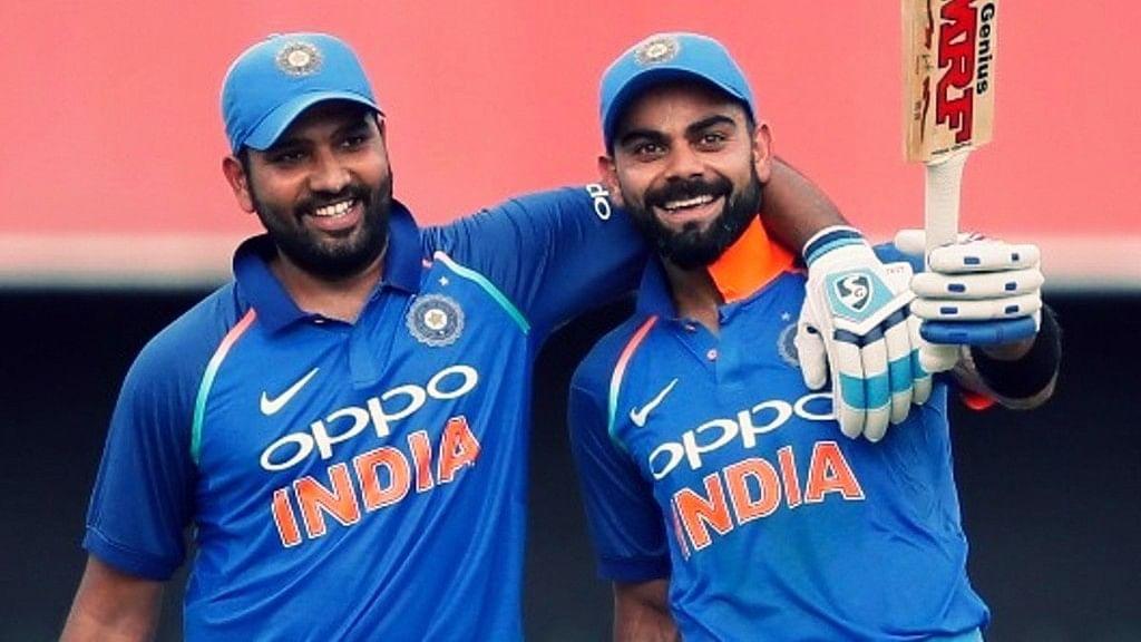 Rohit Sharma and Virat Kohli.