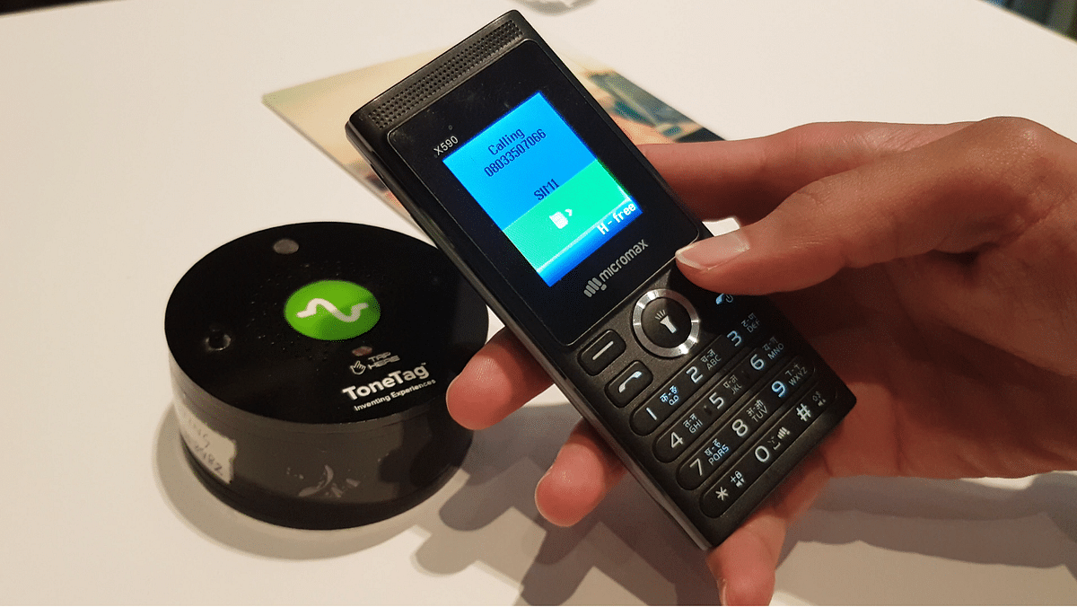 Feature phone used for digital payment.