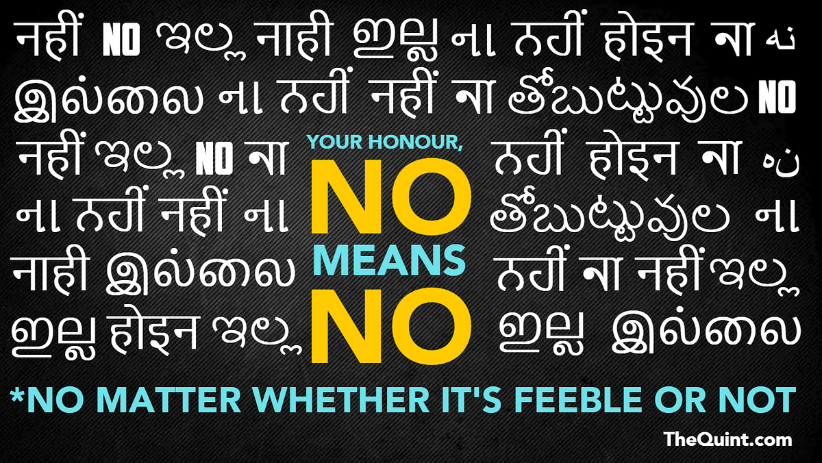 A Feeble 'No' Is Still A 'No', Your Honour – Violating It Is Rape