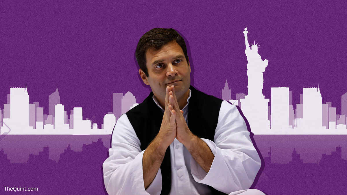 Rahul Gandhi is mounting a concerted campaign abroad to stress his party has the answers.