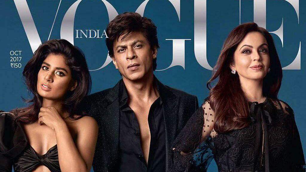 Indian cricket captain Mithali Raj shares the Vogue cover with Shah Rukh Khan and Nita Ambani