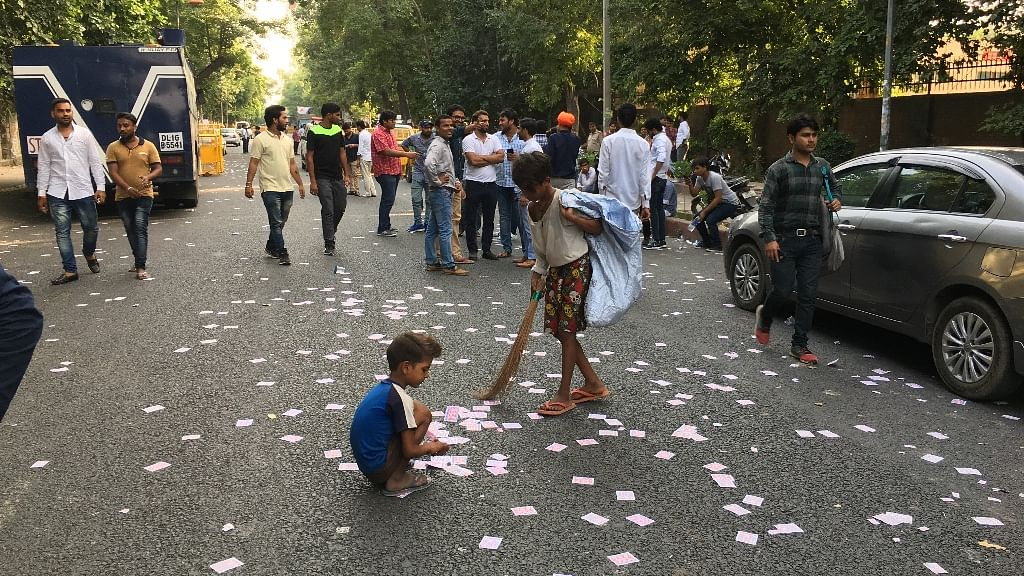 DUSU Polls Leave a Trail of Waste Only to Be Cleaned by Ragpickers