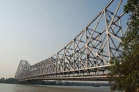 The Howrah bridge.