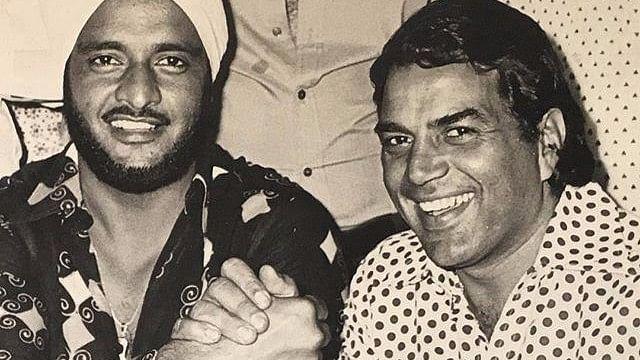 Avtar Singh Sohal with Dharmendra.