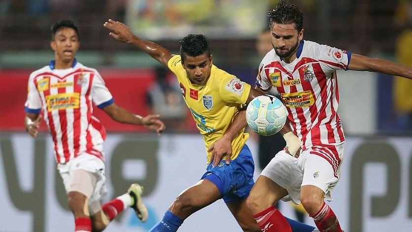 Atletico de Kolkata and Kerala Blasters in action during the ISL final in 2016.