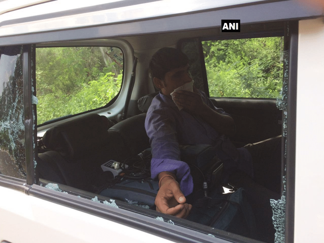ANI personnel attacked by Haryana police, lathicharged during coverage of Ryan International School protest in Gurugram.