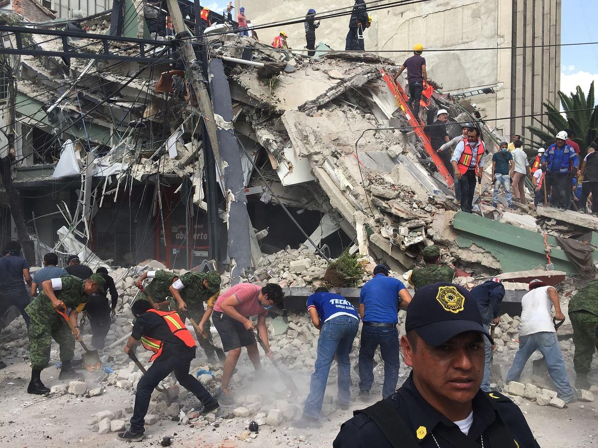 A magnitude 7.1 earthquake rocked central Mexico on Tuesday.