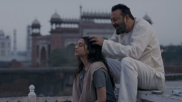 Sanjay Dutt with Aditi Rao Hydari in <i>Bhoomi. </i>